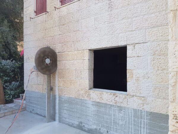 ניסור בטון בירושלים - תמונה של עבודה